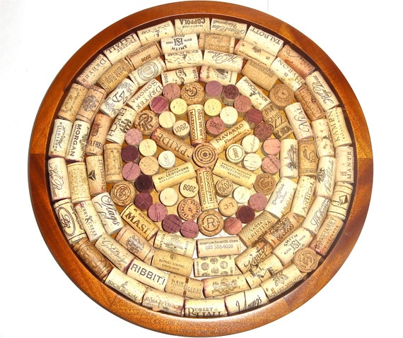 Cork Art Wedding: Items Similar To Round Wine Cork Board
