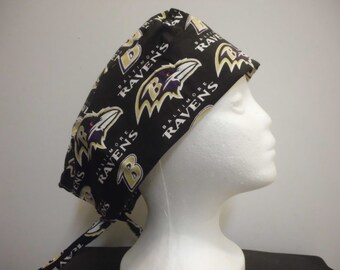 Surgical Hat with Baltimore Ravens design