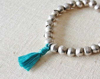 Silver Tassel bracelet // Design your own tassel bracelet //