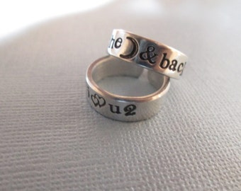 I Love You to the Moon and Back Ring