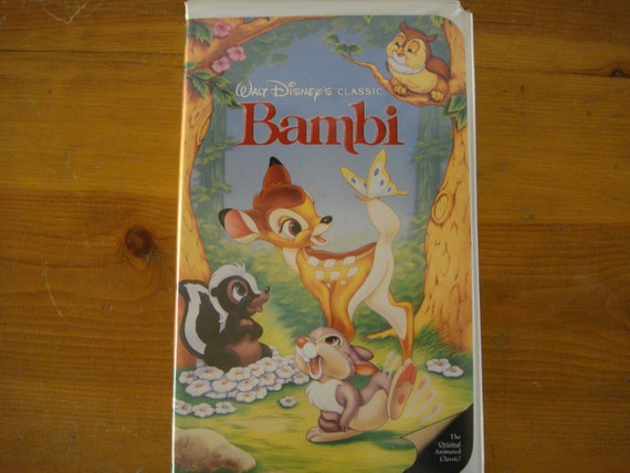 Items similar to Vintage Disney VHS Movie Video Bambi 1989 ...