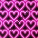 Pink Neon Hearts - Luv to Dance Collection - Kanvas by Benartex 5795-22 (sold by the 1/2 yard)