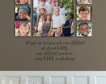 Family wall decal - Family Room Wall Decal - Life wall decal - Family decal - Children Quote, Teach, Inspire, Inspiration