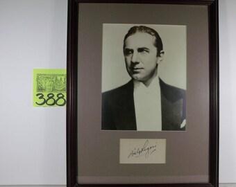 King of Horror Bela Lugosi Photo and signed card