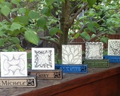 Name Block Tile Holder by Pinetree Studios