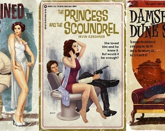 "Art Prints- Star Wars Pulp Trilogy- Set of 3 Posters (12""x18"")"