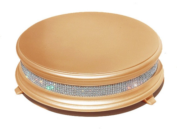 16 Inch Gold Diamond Wedding Cake Stand