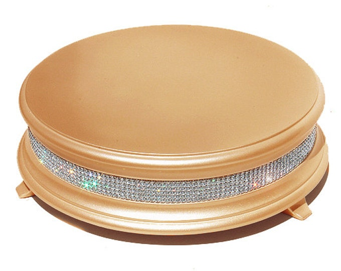 22 inch Gold Diamond Bling Wedding Cake Stand