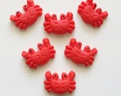 Fondant Crab cupcake toppers, cake toppers