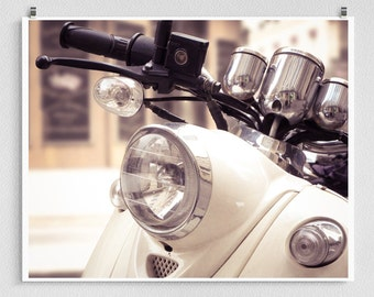 Paris, White Vespa - Paris photo,Art,Fine art photography,Paris home decor,8x10 wall art,white,Paris decor