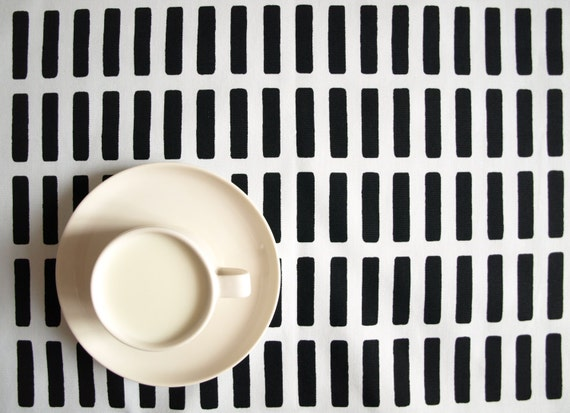 Tablecloth white black stripes lines striped tablecloth ,also table ...