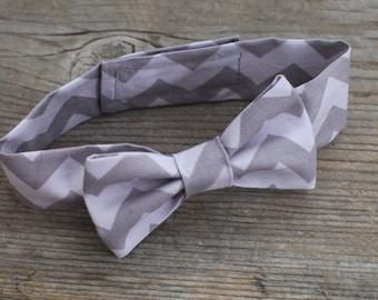 Gray Chevron Baby Boy Newborn Neck Tie Photo Prop