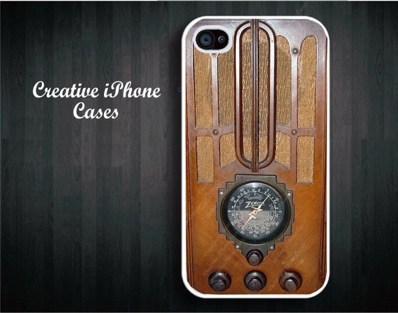 Vintage Tombstone Wood Radio -  Iphone 4 Case, iPhone 4S Case, iPhone 5, iPod Touch 4, iPod Touch 5, Samsung Galaxy S3, Samsung Galaxy S4
