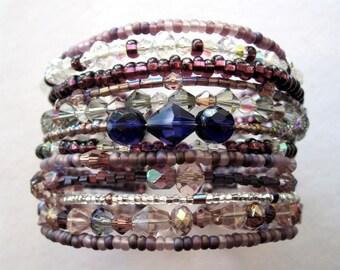 The Danielle Bali Bangle ~ 12 Strand 100+ Swarovski Crystals