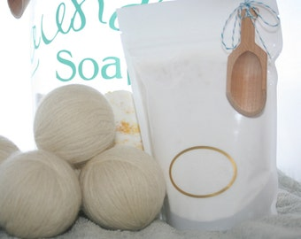 Lavender Vanilla All Natural Goat Milk Laundry Soap 32 loads with scooper