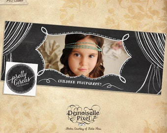 Circus Chalkboard Facebook Timeline Cover Design, Blog Banner Template for Photography,Photographer, Boutique