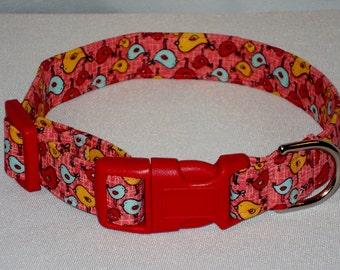 Bird print colorful pet collar