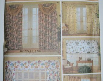 Simplicity 9606 Home Window treatments sewing pattern - UNCUT