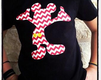 Chevron Mickey Mouse Disney World Vacation Shirt custom t shirt, kids or adults