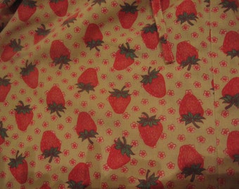 Strawberry Dress 70s vintage strawberry print dress