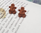 Gingerbread ladies... Post earrings