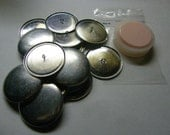 "50 Aluminum Wire Loop Self Cover Buttons Size 75 (1 7/8"")"