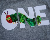 1st Birthday Very Hungry Caterpillar Short-Sleeved Shirt-ONE