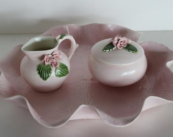 Vintage Pat Young Table Set Creamer, Sugar, Bowl