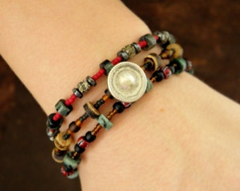 Exquisite Treasures Beaded Wrap Bracelet