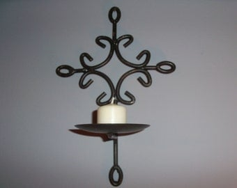 Vintage Iron Candle Sconce