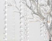 6FT Hanging Crystal Garland, Manzanita Crystals, Wishing Tree Crystals