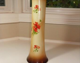 1920's Porceain Poppies Vase - France