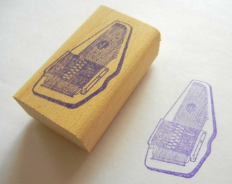 Musical Instrument Rubber Stamp - Autoharp