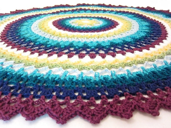 Free Crochet Patterns For Round Baby Blankets : lacy baby blanket round baby blanket crochet baby blanket