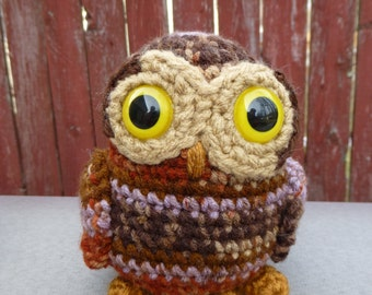 Autumn the Tiny Owl Amigurumi Crochet Plush