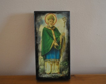 Saint Patrick, Icon.Unique Religious Art and Gifts for Your Special Ones