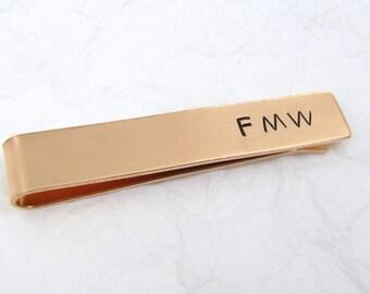 Personalized Copper Tie Clip, Copper Tie Bar, Custom Tie Clip, Wedding Tie Clip, Copper Tie Bar