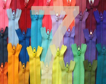 7 Inch YKK Zippers - 100 Pieces - Choose Your Colors