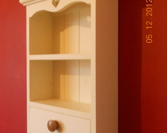 Shabby chic wall unit and draw