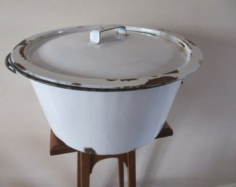Vintage English Enamelware Wash Tub