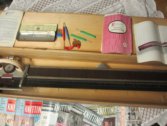 Vintage Knitting Machine : Vintage s knitmaster knitting machine in wooden