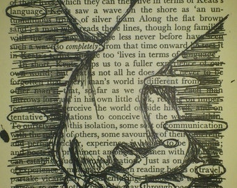 Print of found text poem 'Completely'