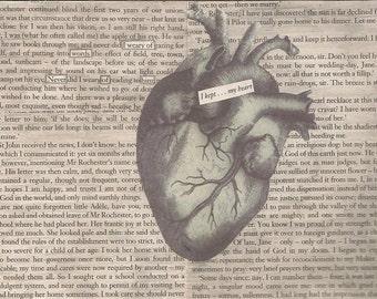 Print of found text poem 'We Were Blind'