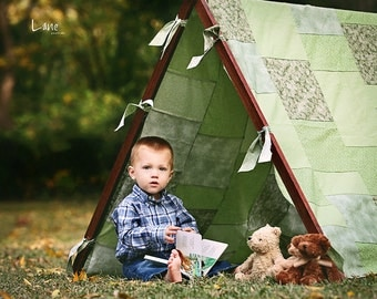 Photography Props Tent Frame and Patchwork Cover Kids Photo Props Children Picture Props Kids Picture Props for Kids Picture Outdoor Photo