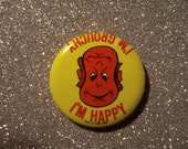 """1 3/4"""" Old School Cartoon Pinback Button // Badge // Expressions"""