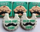 1 Dozen Little Man Cookies Baby Shower Cookies