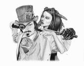 8x10 Steampunk Print