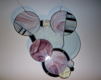 Abstract stained glass suncatcher