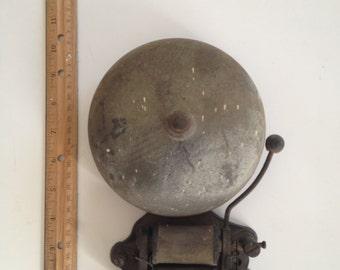 Antique FARADAY Fire Alarm Bell Fire Emergency School Bell