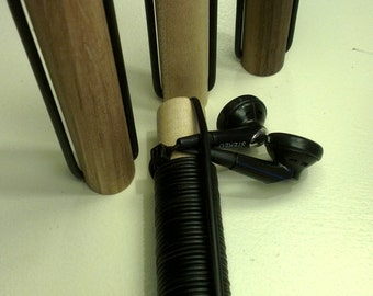 "Wooden Headphone Earbud Tidy "" Tangle free """